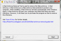 A-fast Antivirus Removal Tool  1.1 poster