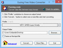 Eusing Free Video Converter  2.0 Build 20160113 poster