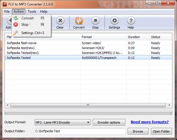 تحميل برنامج تحويل ملفات FLV to MP3 Converter تحويل الفيديو الى صوت 2014