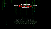 Matrix Trilogy 3D Code Screensaver  3.4 poster