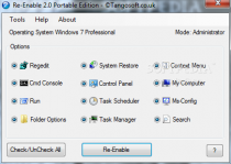 Re-Enable Portable  2.0.1.0 poster