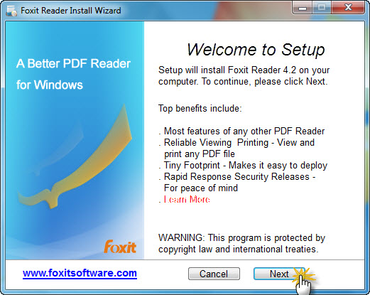 foxit open pdf in another window