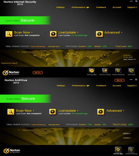 Norton Internet Security & Norton AntiVirus 2012 19.0.0.117 + Updates с