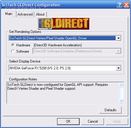 scitech gldirect 5.0